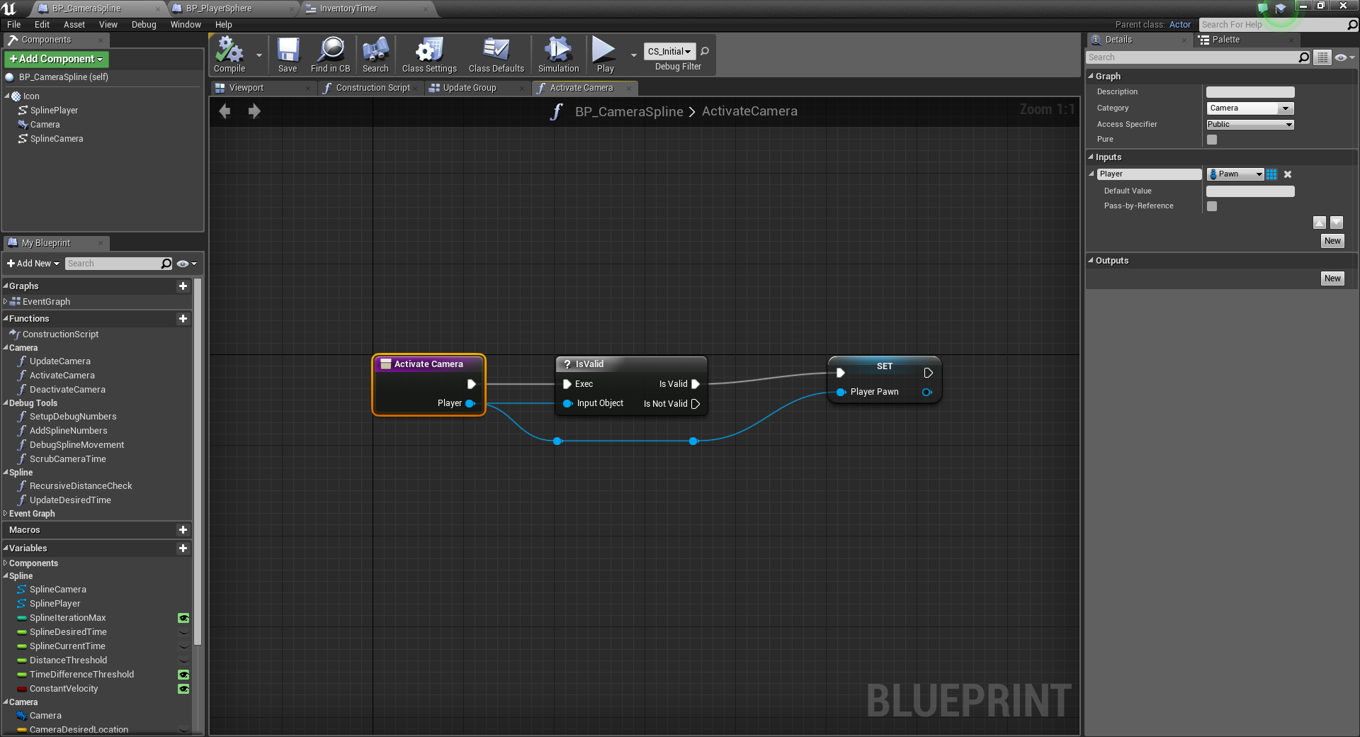 Unreal engine 4 lets make a camera spline system greg mladucky the tick we will setup later uses the player variable as a simple bool check doing this makes sure we have a player to update and if not malvernweather Image collections