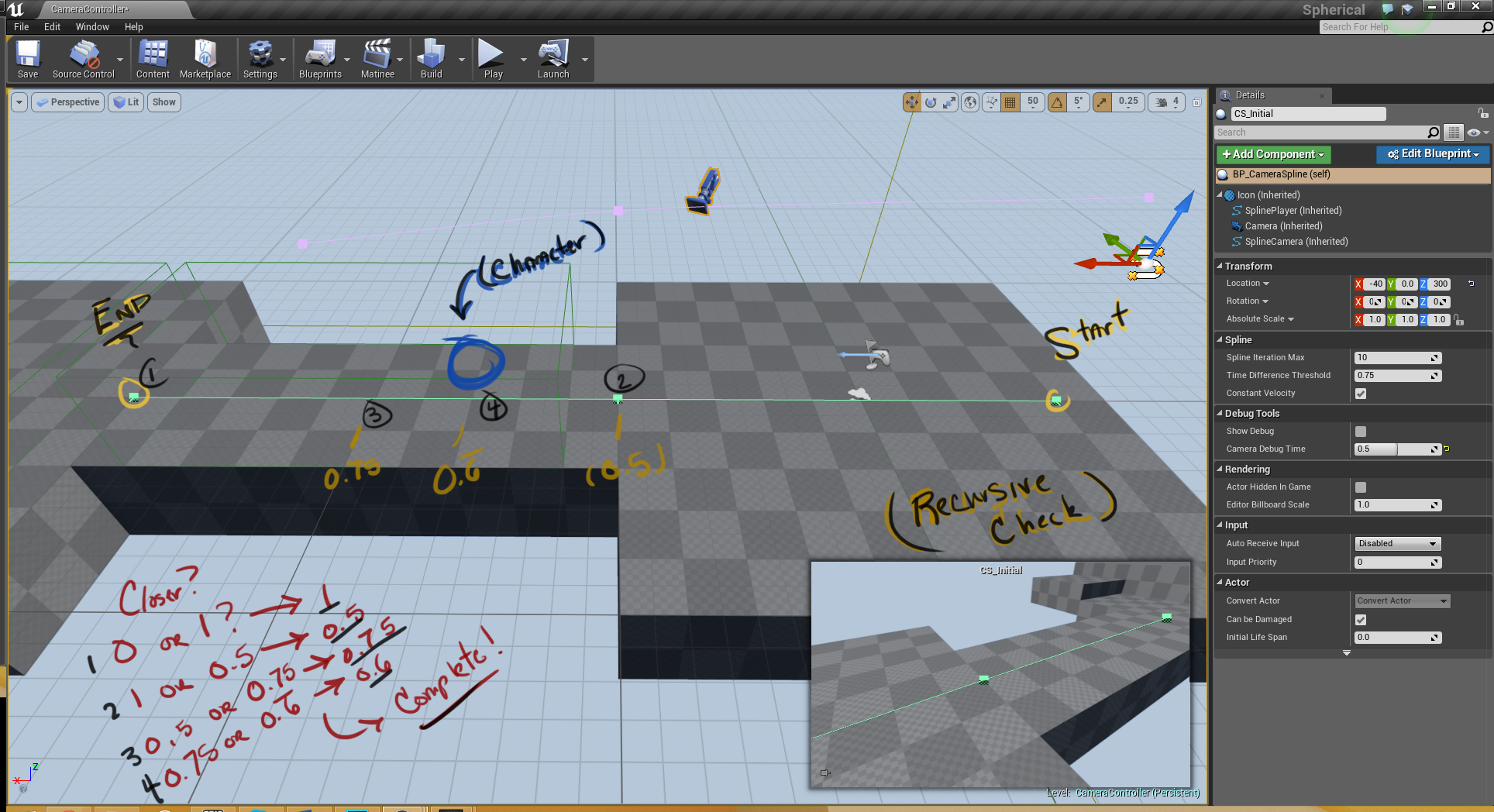 Unreal Engine 4: Let's Make a Camera Spline System | Greg Mladucky